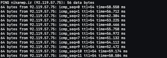 تست DNS سایت